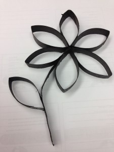 Paper towel roll flower